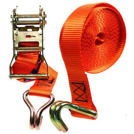 Sangle renforcée à cliquet 2 crochets - 35 x 5 000 mm - XL Perform Tools