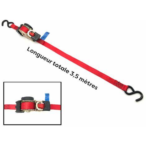 Sangle rétractable à enrouleur automatique l.25 mm x L. 3,5 M + crochet fer 253 LC 600 daN Easy-28 - Cobaltix