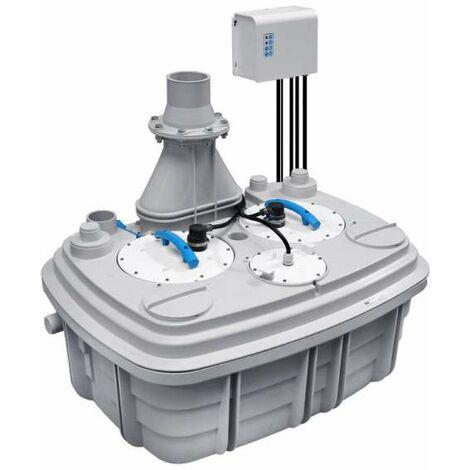 SaniCubic 2XL SFA Sanibroy Doppelhebeanlage Abwasserhebeanlage bis 40m³/h 2x 2000Watt 0052