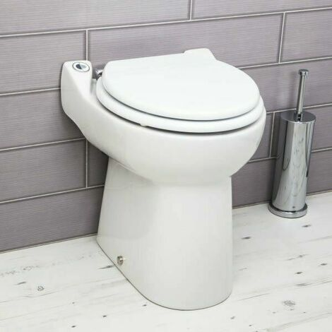 Saniflo Sanicompact Back To Wall Toilet Built-in Macerator Pump
