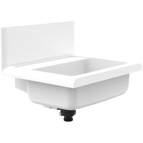 Sanit lineo Waschbecken Ausgussbecken Kunststoff weiß Fassungsvermögen 12 l