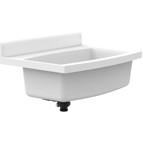 Sanit maxi Waschbecken schlagfest Kunststoff weiß Fassungsvermögen 33l Becken