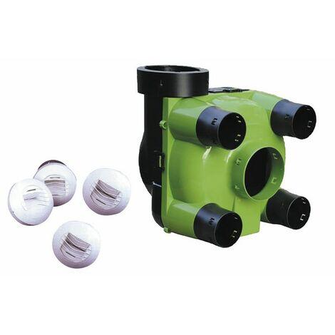 Sanitäre mechanische Belüftung - Individueller feuchtegeführter Luftkasten + Durchlässe