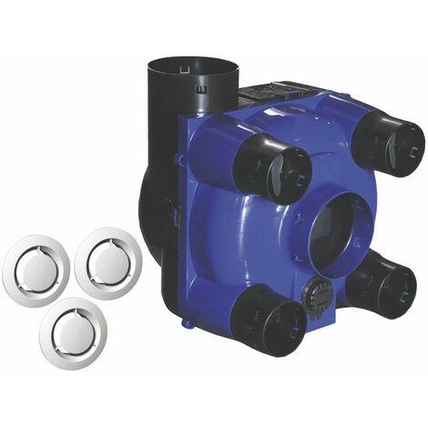 Sanitäre mechanische Belüftung - Individueller selbstregelnder Luftkasten + Durchlässe
