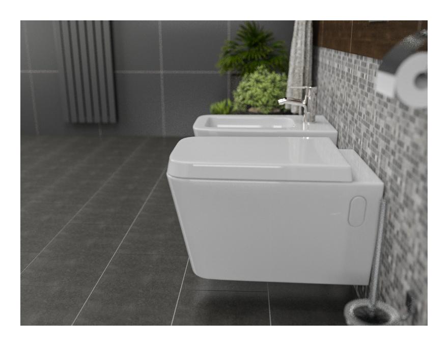 Sanitari bagno sospesi minimal wc con seduta bidet di design moderno