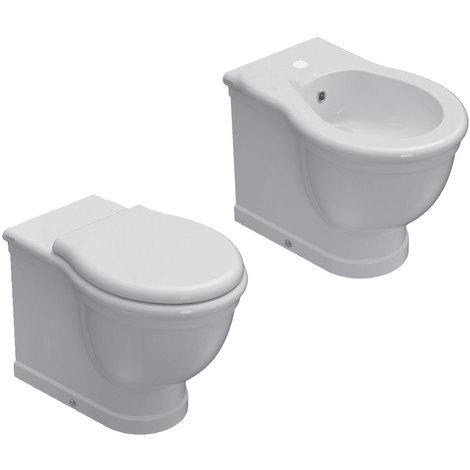 Ceramica Globo Serie Paestum.Sanitari Classici Filoparete Ceramica Globo Paestum Wc Bidet Sedile