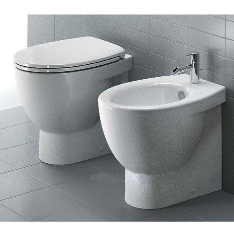 Sanitari Filoparete Ceramica Catalano New Light wc + bidet + sedile ...