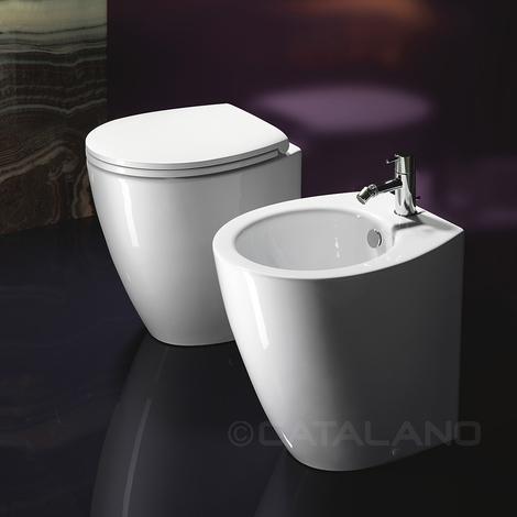Smalto Per Ceramica E Sanitari.Sanitari Filoparete Ceramica Catalano Velis 50 Smalto Cataglaze Con