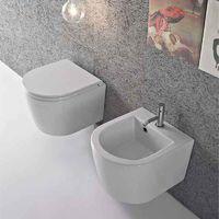 Sanitari Sospesi Ceramica Globo Forty3 cm 43 WC + BIDET + SEDILE SOFT CLOSE