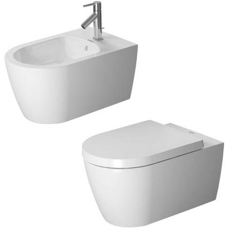 Sanitari sospesi design moderno Duravit ME by Starck wc + bidet + sedile