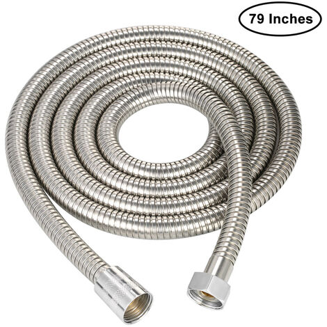 Sanitary stainless steel hose 2 m encrypted tube copper core copper cap