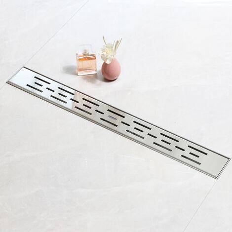 SaniteModar Caniveau dedouche,Panneau Linéaire, Caniveau de douche siphonnéavecappareildésodorisantetfiltreàcheveux,100cm