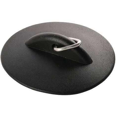 Sanitop-Wingenroth 191531Bouchon en caoutchouc 32mm universel, Bonde/Lavabo/Robinet de bassin évier, noir, diamètre 32mm