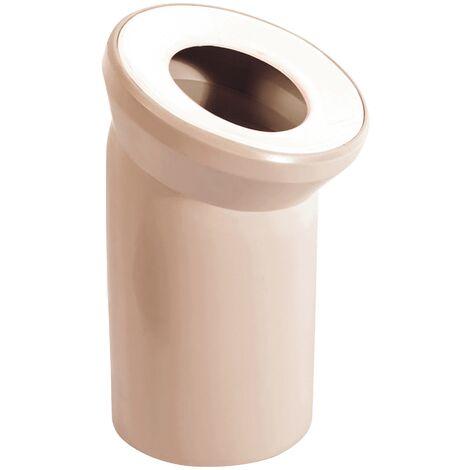 Sanitop-Wingenroth 21642 5 Anschlussbogen für Stand WC | Beige | 22 Grad | Toilette