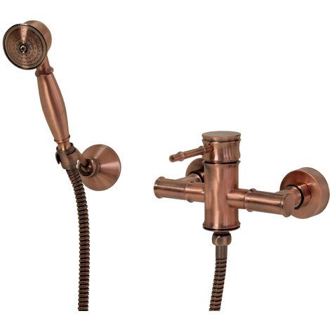 Sanlingo Nostalgie Retro Dusche Armatur Einhebel Rot Bronze Tessa