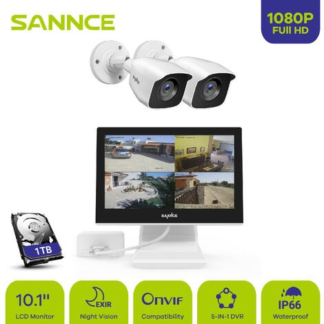 SANNCE 100 feet Video Pre-made Power Cables All-in-One Security Camera Extension Cables for CCTV DVR Home Surveillance System White