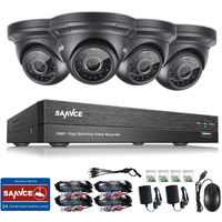 SANNCE 1080P 4 Channel Powerful 5-In-1 DVR With 4 Dome Cameras