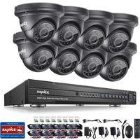 SANNCE 1080P 5-in-1 Überwachungs Kit 16CH DVR mit 8 x 200W Wetterfeste Videoüberwachungskamera