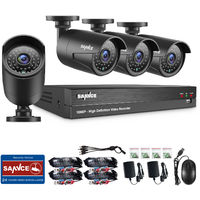 SANNCE 1080P 8 Channel Powerful 5-In-1 DVR With 4 Bullet Cameras