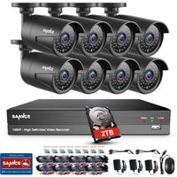 SANNCE 1080P 8 Channel Powerful 5-In-1 DVR With 8 Bullet Cameras