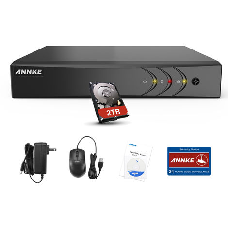 SANNCE 16CH 1080N 720P HD Security System With 12 Dome Cameras