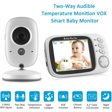 SANNCE 3.2 inch LCD Baby Monitor IR Night Vision 2 Way Talking Video Nanny Radio Babysitter Cam