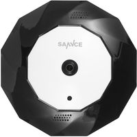SANNCE 360° Panoramic IP Camera Wireless WiFi Surveillance Security Network Camera with IR Night Vision, Support up to 64G SD Card On Board Storage