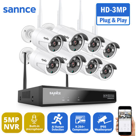 """main image of """"SANNCE 4-Channel 5MP XPoE Network Video Security System (NVR Kit) CCTV kits"""""""