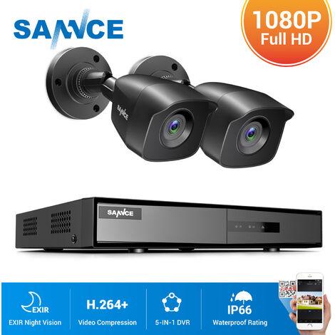 SANNCE 4CH 1080N HD CCTV System 4pcs 720P Outdoor IR Security Camera 4 Channels video Surveillance DVR kits