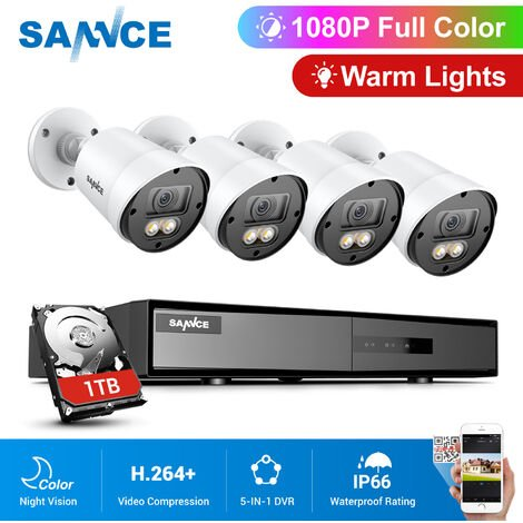 """main image of """"ANNKE 8CH 5.0MP POE NVR 8Pcs 3.0Megapixels HD Home Day/Night Vision IP67 Weatherproof Bullet Security Camera System"""""""
