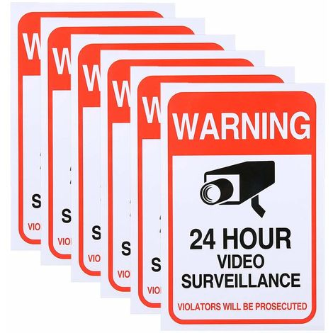 Sannce 6 Pack Home Security Stickers Yard Sign Security