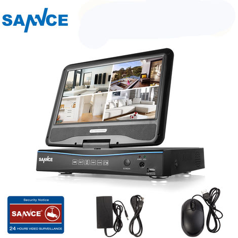 SANNCE 720P HD Video Monitoring System with 1080N 10.1'' LCD Combo DVR