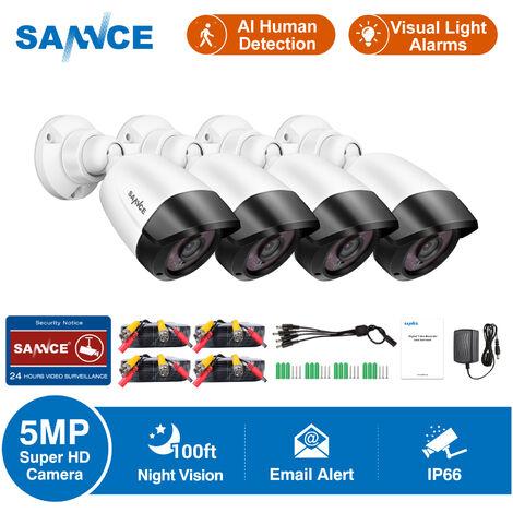 SANNCE 8 canaux 1080p HD Système de surveillance de sécurité à domicile filaire DVR Enregistreur vidéo numérique, Surveillance CCTV autonome prend en charge 5-en-1 CVBS / AHD / TVI / CVI / IP