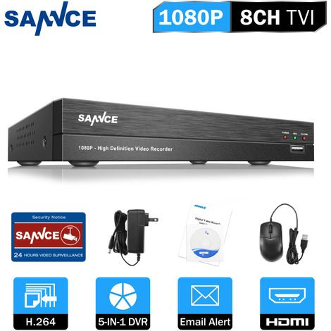 SANNCE 8-Channel CCTV Security Camera System with DVR 5 in 1