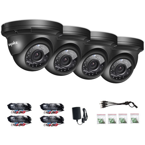 SANNCE AHD 1080p Dome Security Camera - 4 Cameras