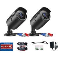SANNCE Cámara impermeable para el sistema de videovigilancia HD 1080p