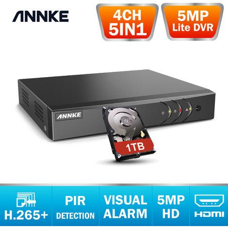 SANNCE Kit Vidéo surveillance cctv système 8CH 1080N DVR enregistreur + caméra de sécurité extérieur HD 720p vision nocture 20m