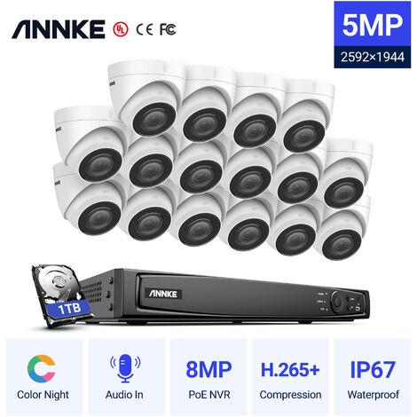 SANNCE KIT Vidéosurveillance avec écran 10.1pouce LCD 4CH DVR + caméra de surveillance HD 1080P Intérieur/Extérieur vision nocture 20m