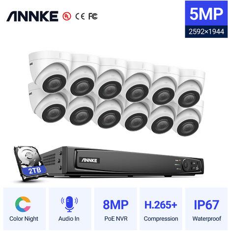 SANNCE KIT Vidéosurveillance avec écran 10.1pouce LCD 4CH DVR + HD 1080P caméra dôme de surveillance