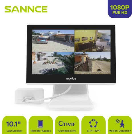 "SANNCE SANNCE HD 720p video surveillance system with 10.1 ""1080N 1080N DVR Combo"