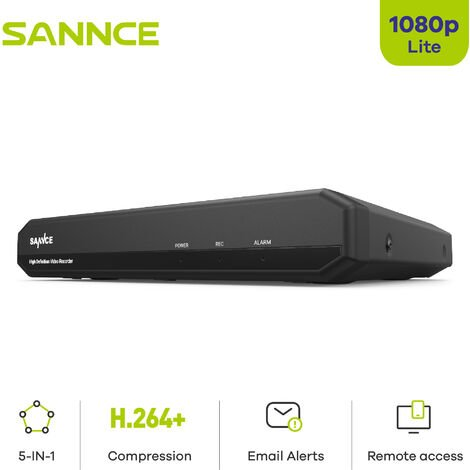 SANNCE Security camera system SANNCE 4/8 / 16CH 720P with DVR 5 in 1 - 0TB