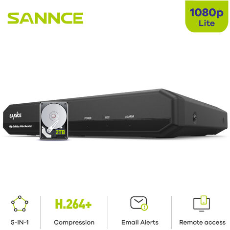 SANNCE Security camera system SANNCE 4/8 / 16CH 720P with DVR 5 in 1