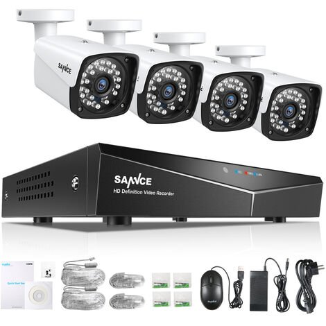 SANNCE Sistema de seguridad de video en red 1080P XPoE de 4 canales