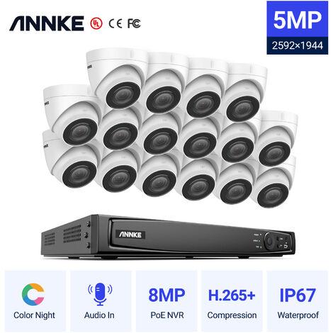 """main image of """"SANNCE Système de caméra de sécurité de surveillance vidéo sans fil Wifi 4CH 1080p, NVR tout-en-un avec moniteur 10,1 """", 4 caméras IP 2MP pour département intérieur extérieur"""""""