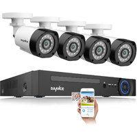 SANNCE Système de caméra de vidéosurveillance 720p 4 canaux