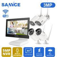 SANNCE Système de sécurité vidéo 720P Wi-Fi avec écran LCD 10.1 ''