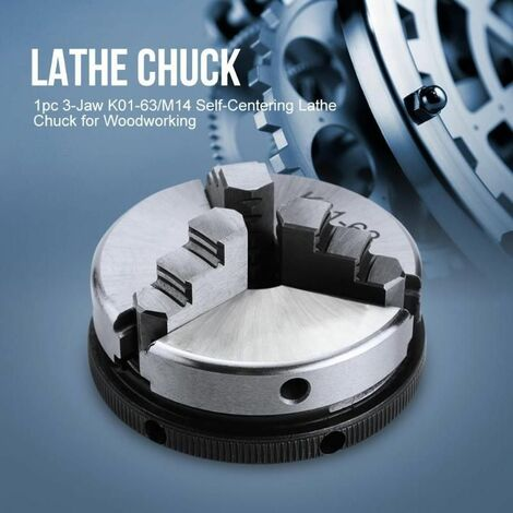 "main image of ""SANOU 3/4 Jaws Self-centering Wood Lathe Chuck DIY Metal Tools K02-63"""