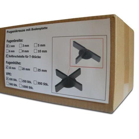 1000 St/ück SANPRO Niedrige Fugenkreuze 2 x 10 x 50 mm 1 mm Boden//Bodenplatte