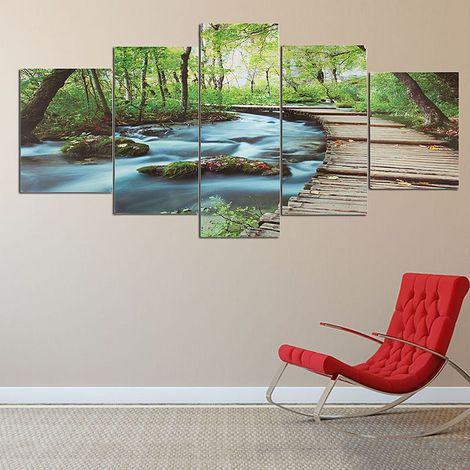 Sans cadre Mode Nouveau 5 pcs Moderne Art Peinture Impression à L'huile Paysage Mur Photo Home Room Decor LAVENTE