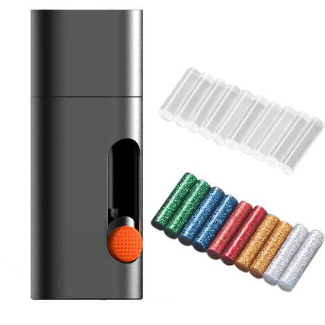Sans Fil Electrique Thermofusibles Colle Pen Colleuse De Type C Rechargeable Bricolage Art Craft Glue Pen Accueil Menage Utilitaire Outil, Gris, Sans Baton De Colle Colore